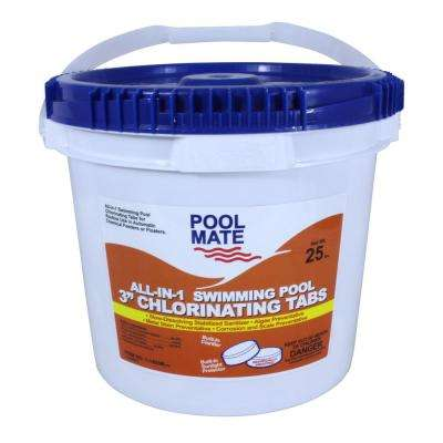 25 lb. Pool All-in-1 3 in. Chlorinating Tablets