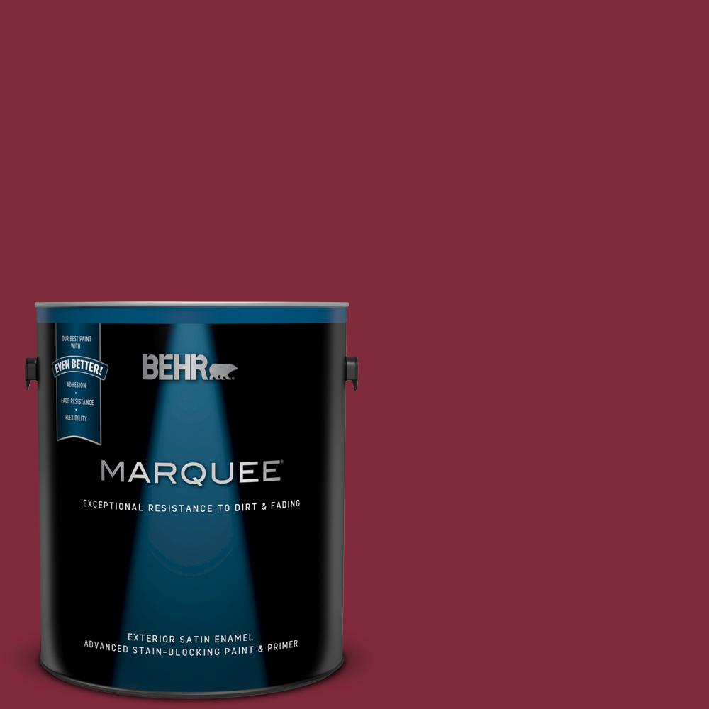ef2ff8a59 BEHR MARQUEE 1 gal.  S-H-130 Red Red Wine Satin Enamel Exterior Paint