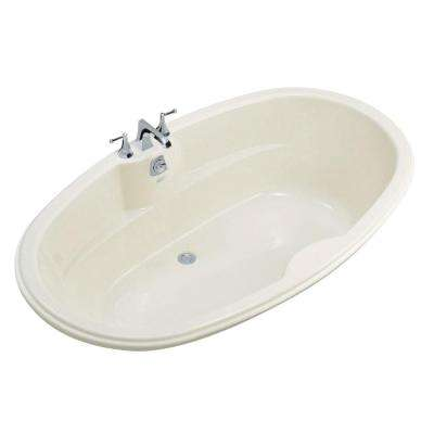 6 ft. Center Drain Oval Bathtub in White