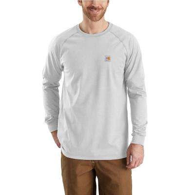 Men's Regular Small Light Gray FR Force Long Sleeve T-Shirt