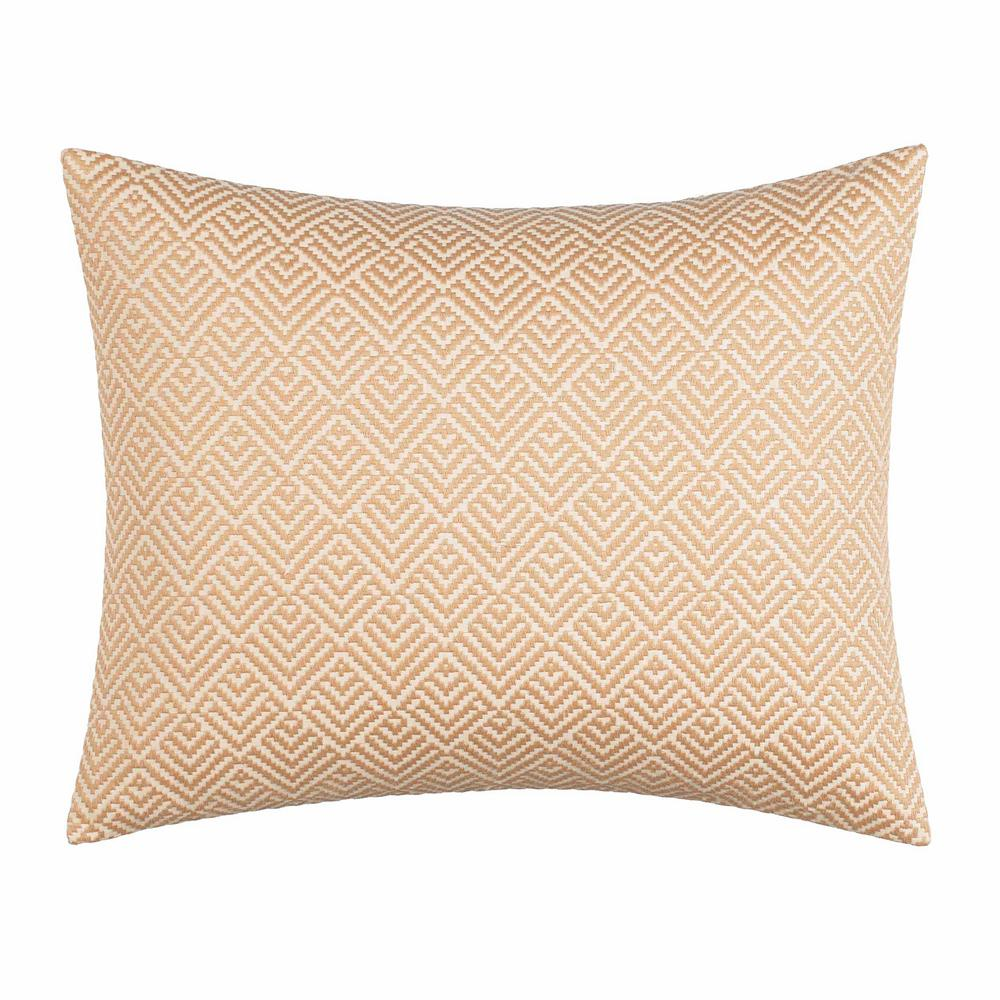 Sunrise Stripe Dark Beige 16 in. x 16 in. Throw Pillow Turn your bedroom into a tropical paradise with the Sunrise Stripe Sand Breakfast Pillow by Tommy Bahama. The solid sand canvas pillow features delicate diamond embroidery on the face, with a solid reverse. Pair this pillow with the rest of the Sunrise Stripe Collection to further elevate your bedding ensemble. Pillow (16 in. x 20 in.). Color: Beige.
