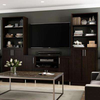 Living Room Furniture Packages With Tv. Mocha Storage Entertainment Center Kit  TV Stands Living Room Furniture The