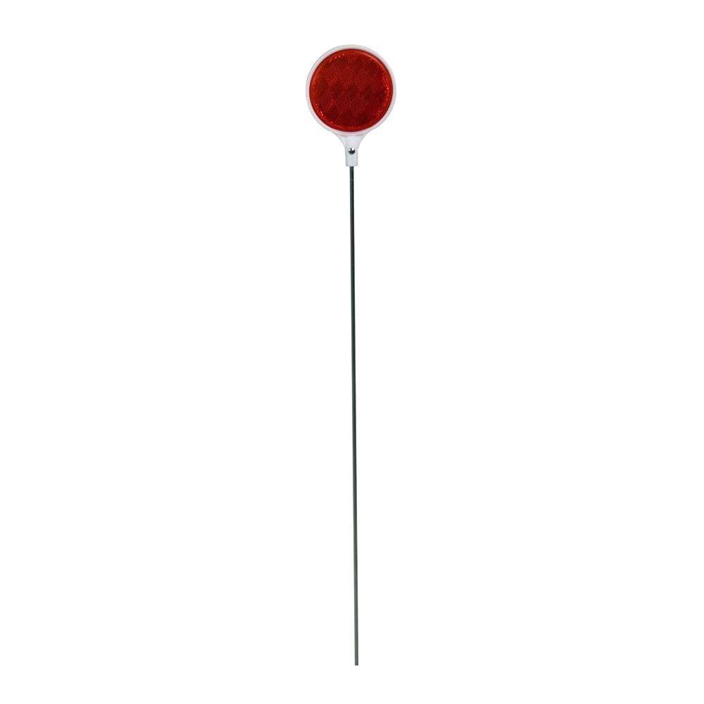 Blazer International Driveway Marker 36 in. 2-Sided Round Red Steel Pole