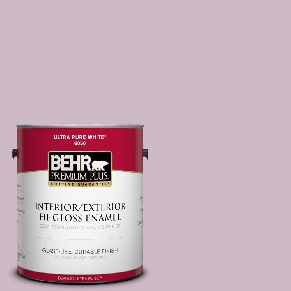 BEHR Premium Plus 1-gal. #S110-3 Queen's Violet Hi-Gloss Enamel Interior/Exterior Paint