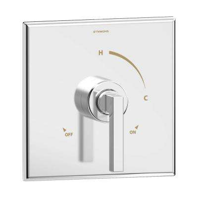 Duro 1-Handle Wall-Mounted Shower Valve Trim Kit in Polished Chrome (Valve Not Included)
