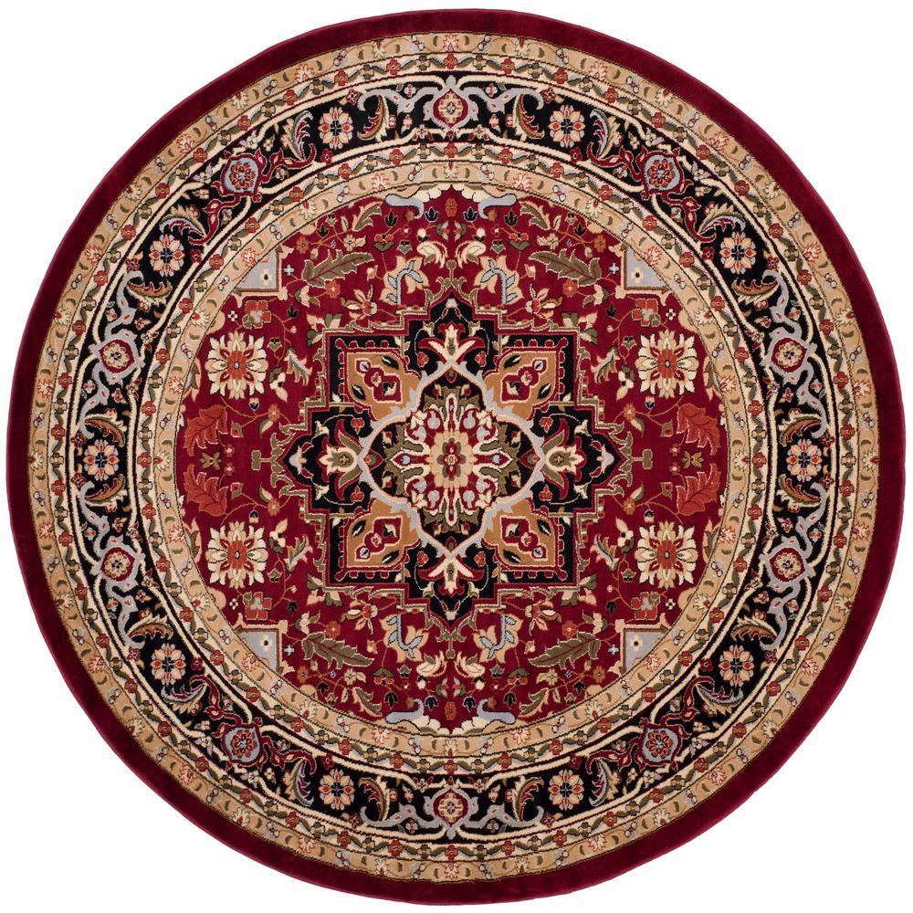 Safavieh Lyndhurst Redblack 8 Ft X 8 Ft Round Area Rug Lnh330b 8r