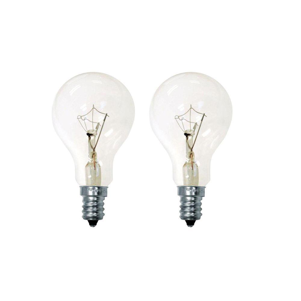 Ge 40 Watt Incandescent A15 Ceiling Fan Candelabra Base Clear Light Bulb 2