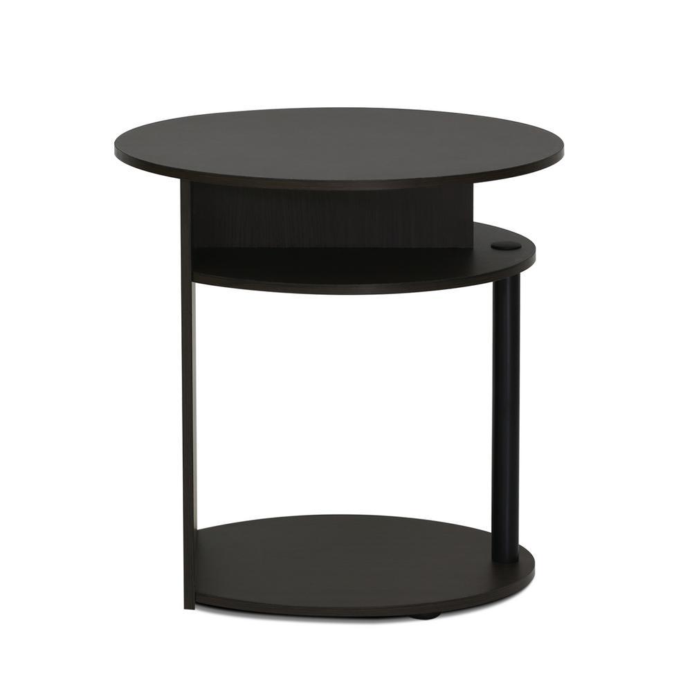 Jaya Walnut Oval End Table