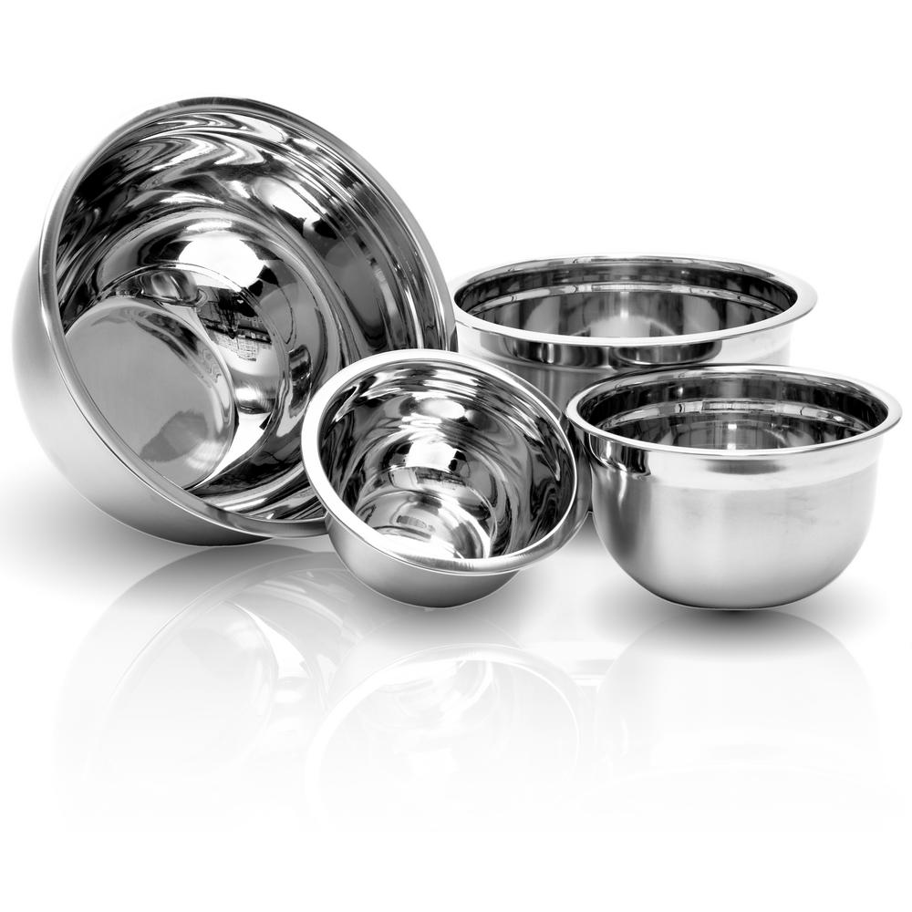 4-Piece Stainless Steel Kitchen Mixing Bowls Set