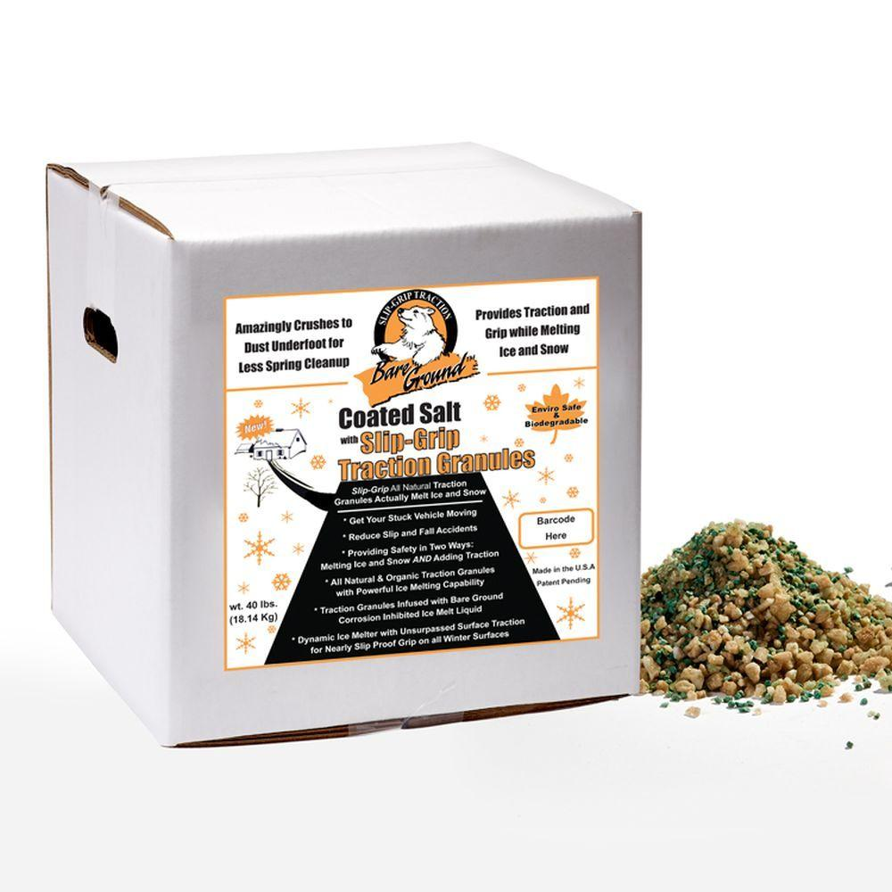 Bare Ground 40 lb. Coated Salt with SlipGrip Traction Granules