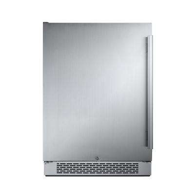 24 in. W 5.5 cu. ft. Freezerless Refrigerator in Stainless Steel, Counter Depth - Left Hinge
