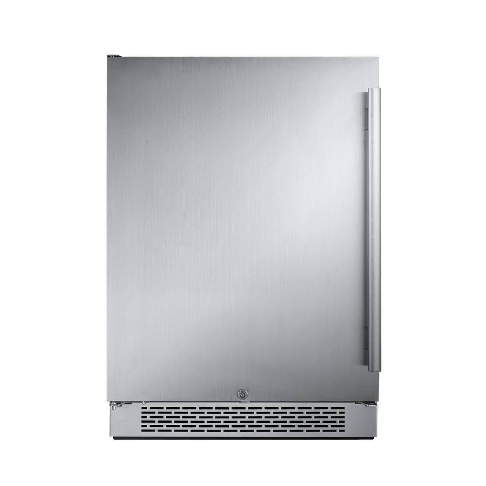 24 in. W 5.5 cu. ft. Freezerless Refrigerator in Stainless Steel, Counter Depth - Left Hinge
