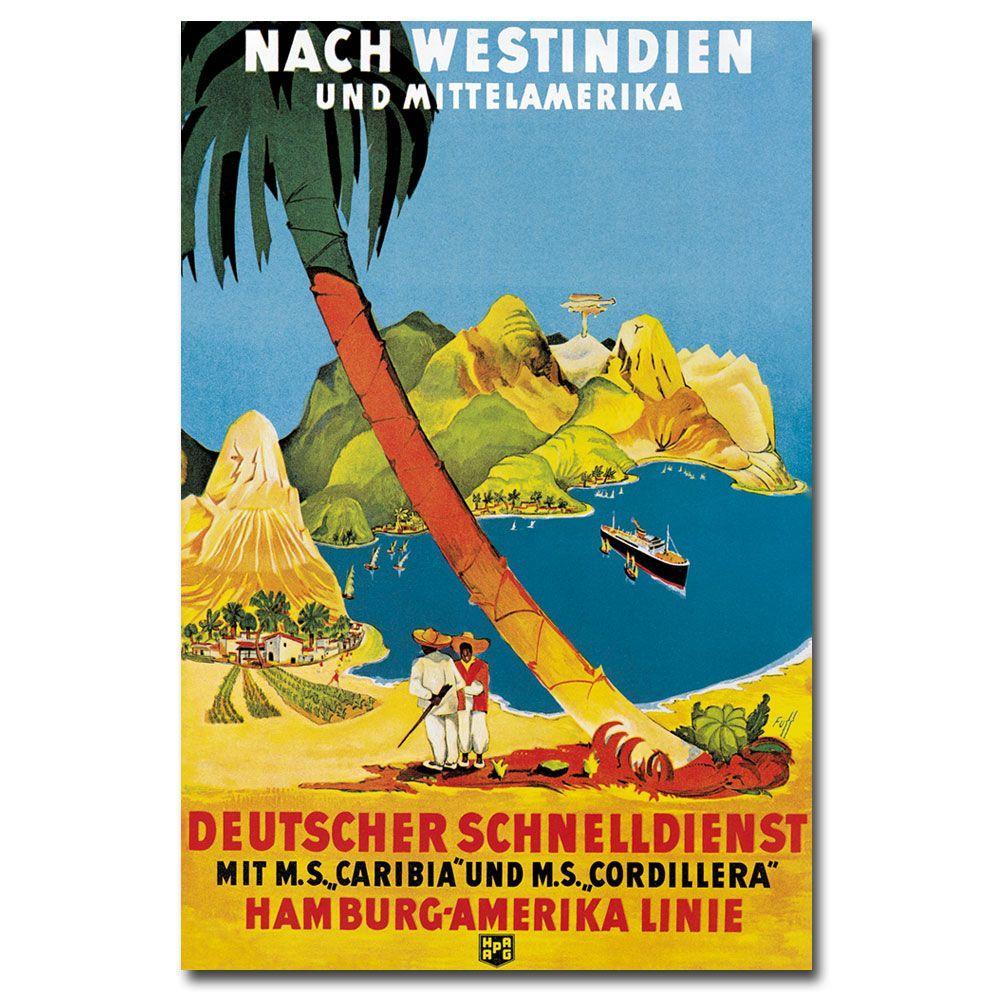 Trademark Fine Art 22 in. x 32 in. Hamburg-Amerika Linie Canvas Art