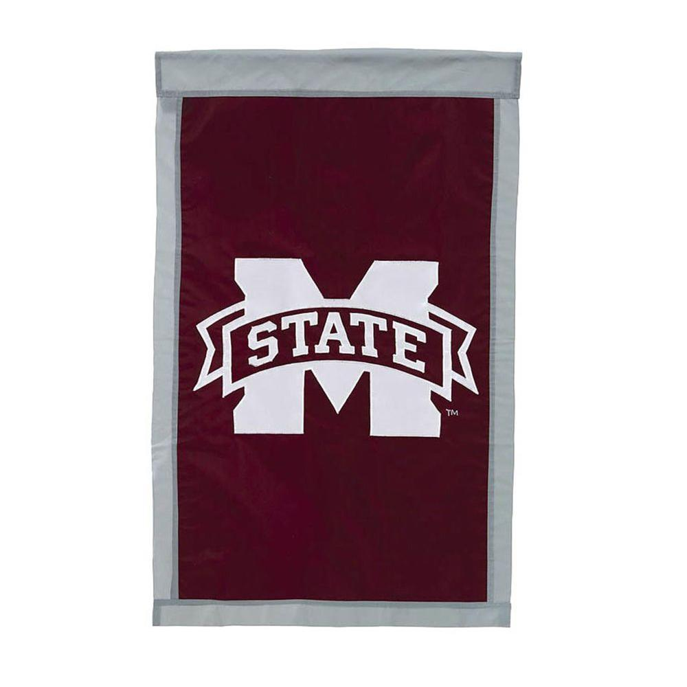 NCAA 28 in. x 44 in. Mississippi State University Applique House