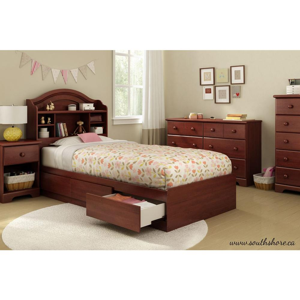 South Shore Summer Breeze 3 Drawer Royal Cherry Twin Size Storage