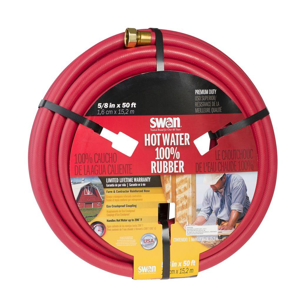easy flexible garden hose home depot. Premium Hot Heavy Duty Water Swan 5 8 in  Dia x 50 ft Hose