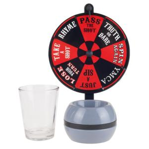 4 inch Spin-the-Wheel Shot Glass Drinking Game by