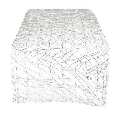 Silver Metallic Woven Paper Table Runner