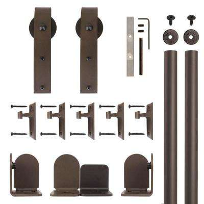 Hook Hardware Oil Rubbed Bronze Rolling Door Hardware Kit