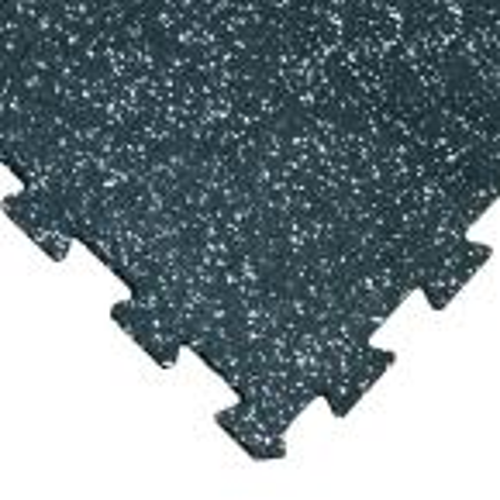 ReUz 0.24 in. T x 1.6 ft. W x 1.6 ft. L White Speckle Rubber Flooring Tiles (88 sq. ft.) (32-Pack)