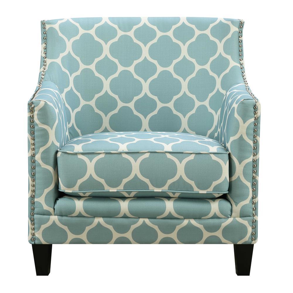 Deena Aqua Accent Chair  sc 1 st  Home Depot & Deena Aqua Accent Chair UDH707100CA - The Home Depot