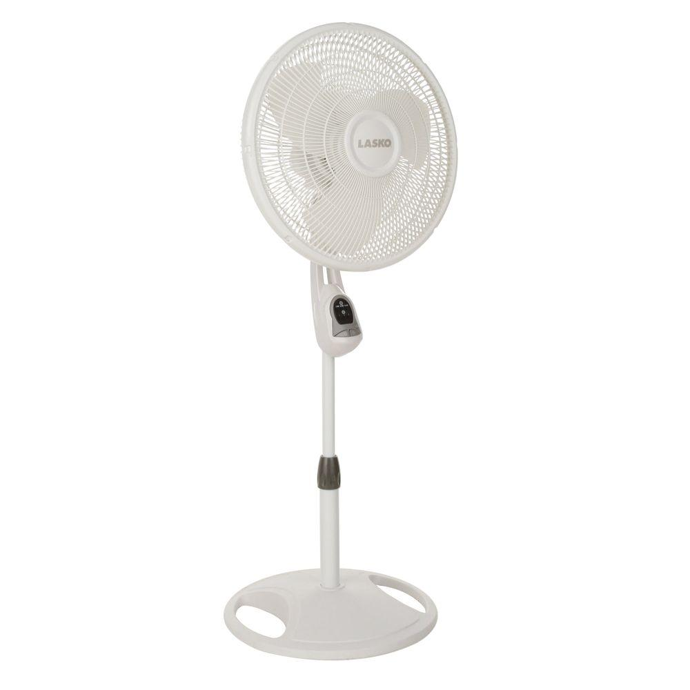 Home Depot Pedestal Fans : Lasko in remote control stand fan the home depot