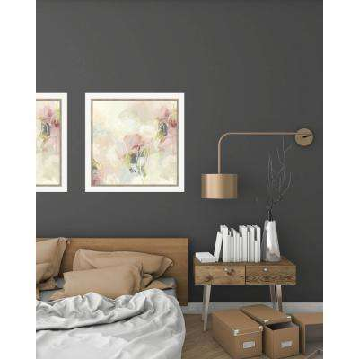 23.5 in. x 23.5 in. 'Cherry Blossom I' by June Erica Vess Fine Art Paper Print Framed with Glass Wall Art