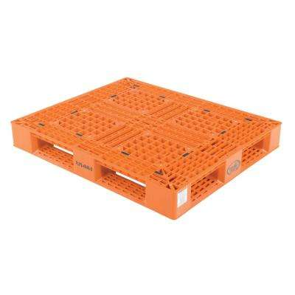 48 in. x 40 in. x 6 in. Orange Plastic Pallet/Skid