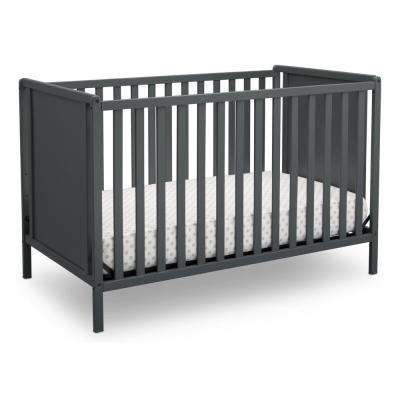Heartland Classic 4-in-1 Convertible Crib, Charcoal Grey