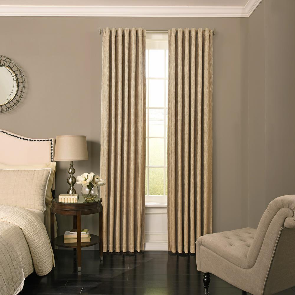 Barrou Blackout Window Curtain Panel in Jute - 52 in. W x 95 in. L