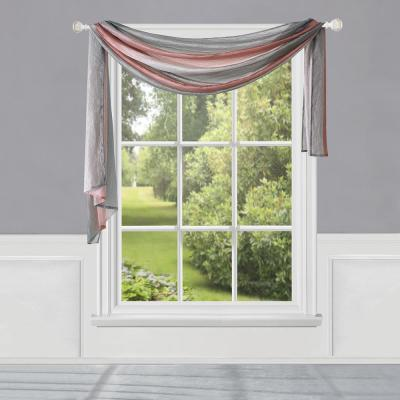 Ombre 144 in. L Polyester Window Curtain Scarf in Blush