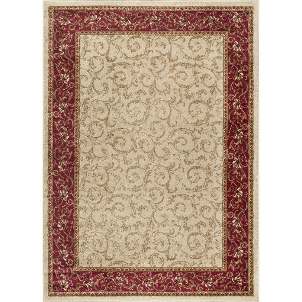 tayse rugs elegance beige 7 ft 6 in x 9 ft 10 in indoor area rug 5402 ivory 8x10 the home. Black Bedroom Furniture Sets. Home Design Ideas