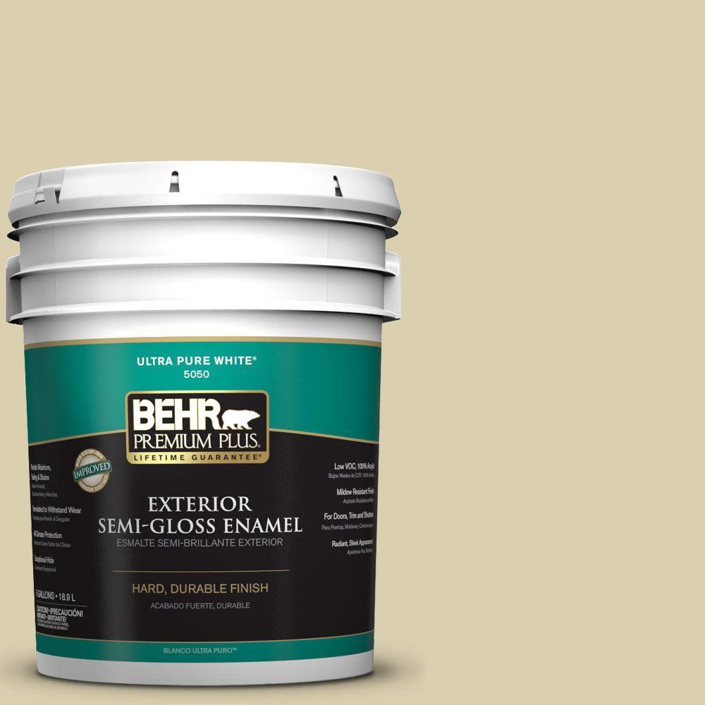 5-gal. #M330-3 Sweet Jasmine Semi-Gloss Enamel Exterior Paint