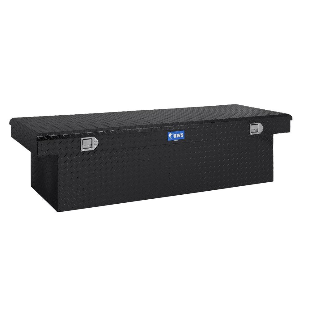 UWS 72 in. Aluminum Single Lid Deep Extra Wide Black Crossover Toolbox