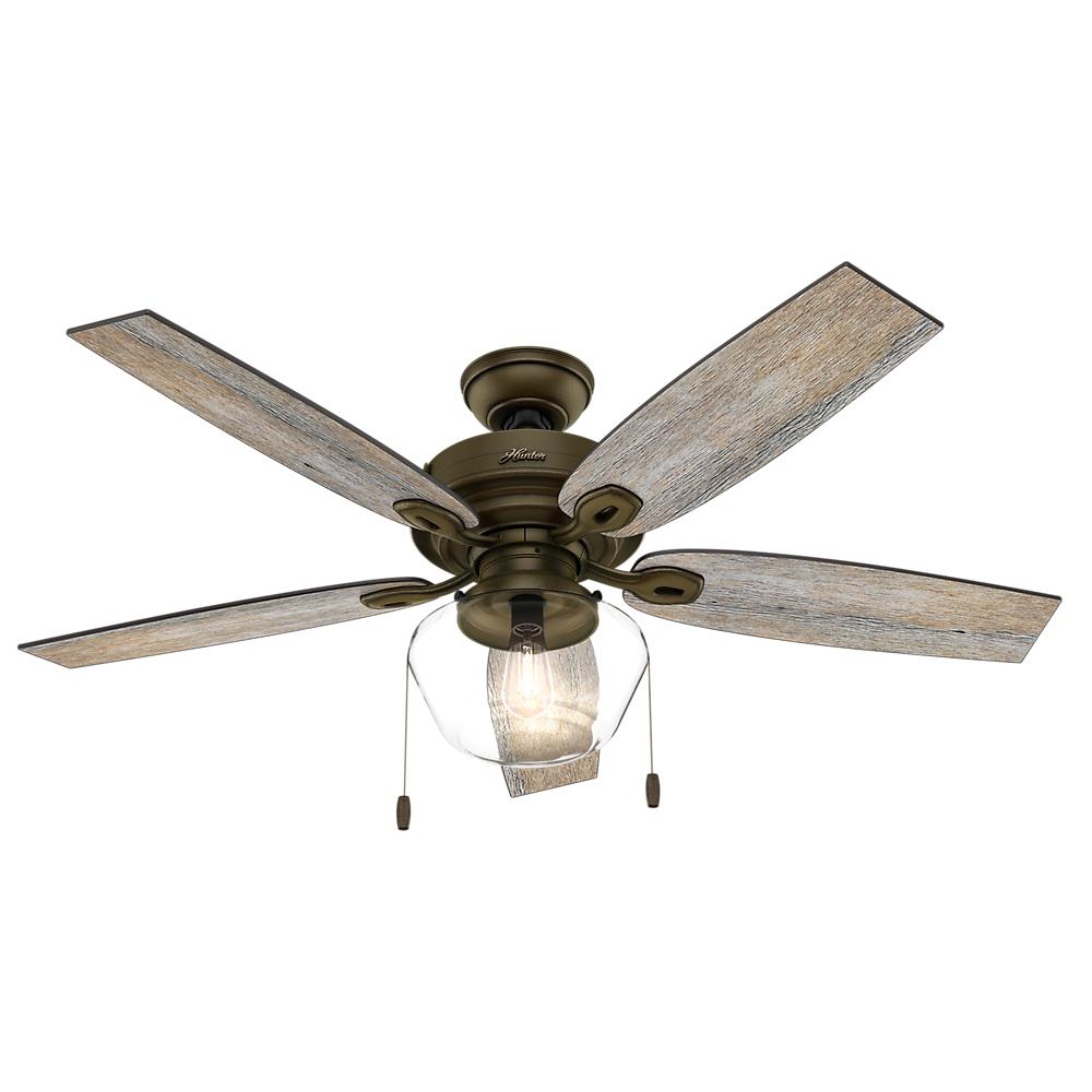 Ceiling Fans Product : Hunter oberlin in led indoor brushed nickel ceiling