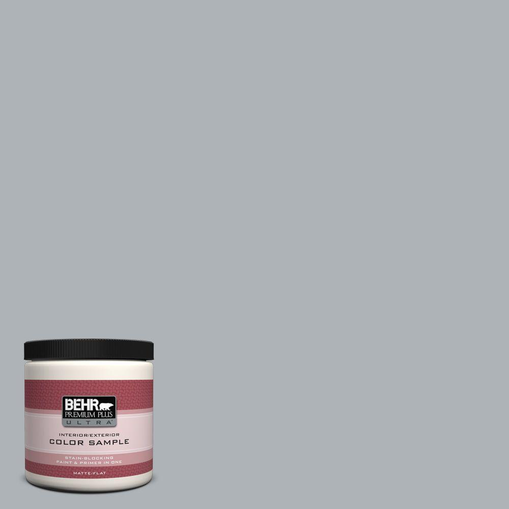 8 oz. #N510-3 Stargazer Flat Interior/Exterior Paint and Primer in One