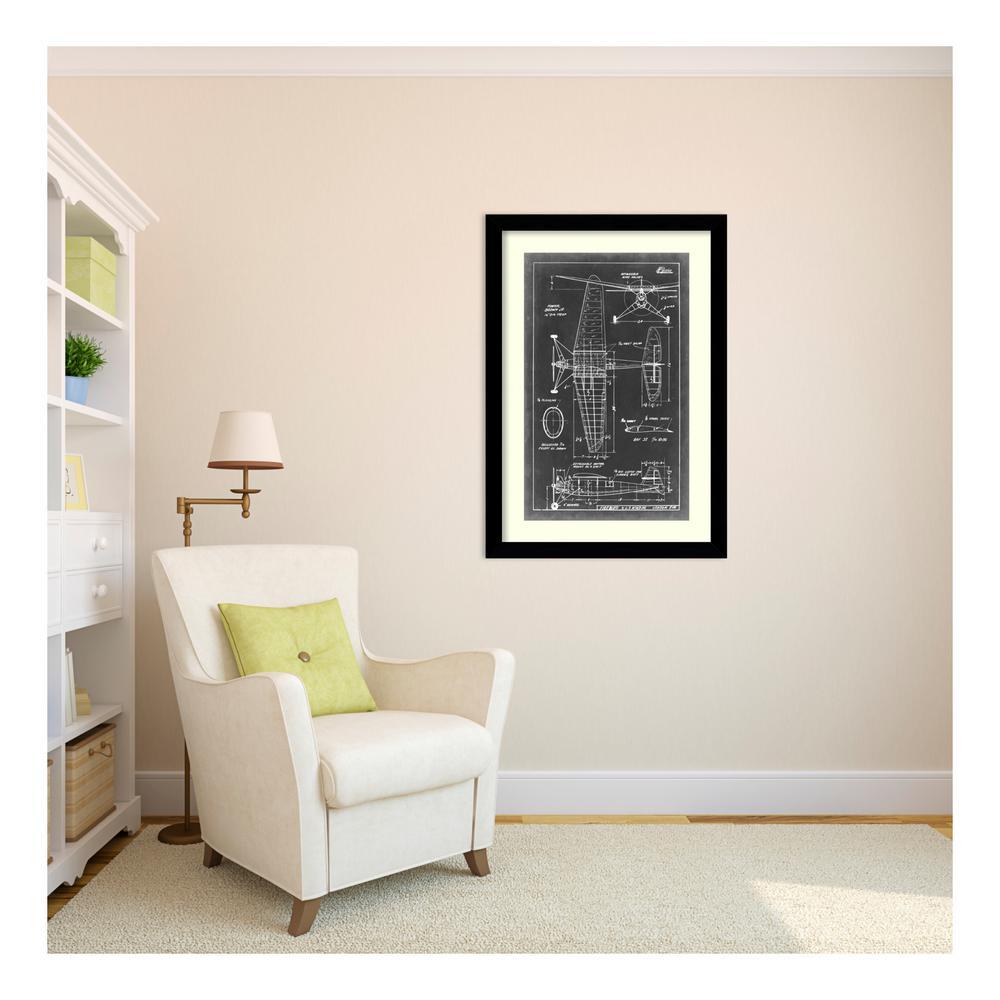 "26 in. W x 37 in. H ""Aeronautic Blueprint IV"" by Vision Studio Framed Art Print"