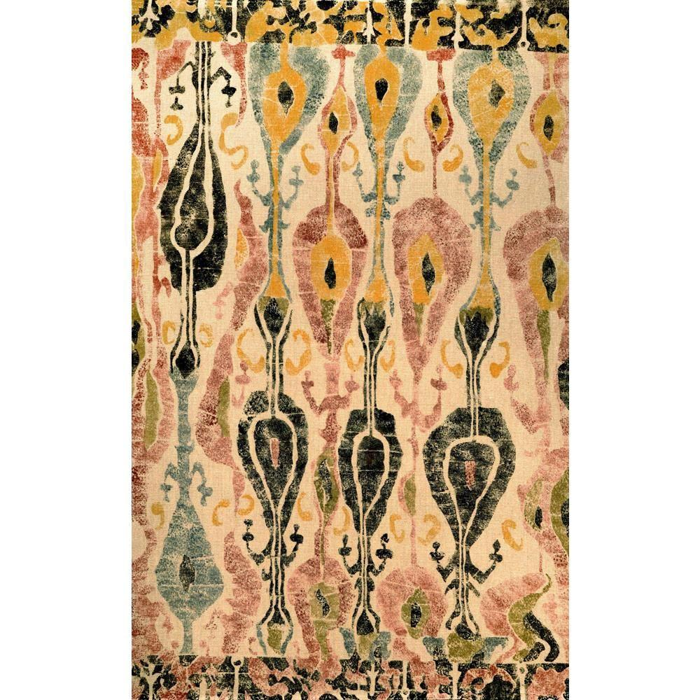 Nuloom Paisley Natural 5 Ft X 8 Ft Area Rug Ncnt16a 508