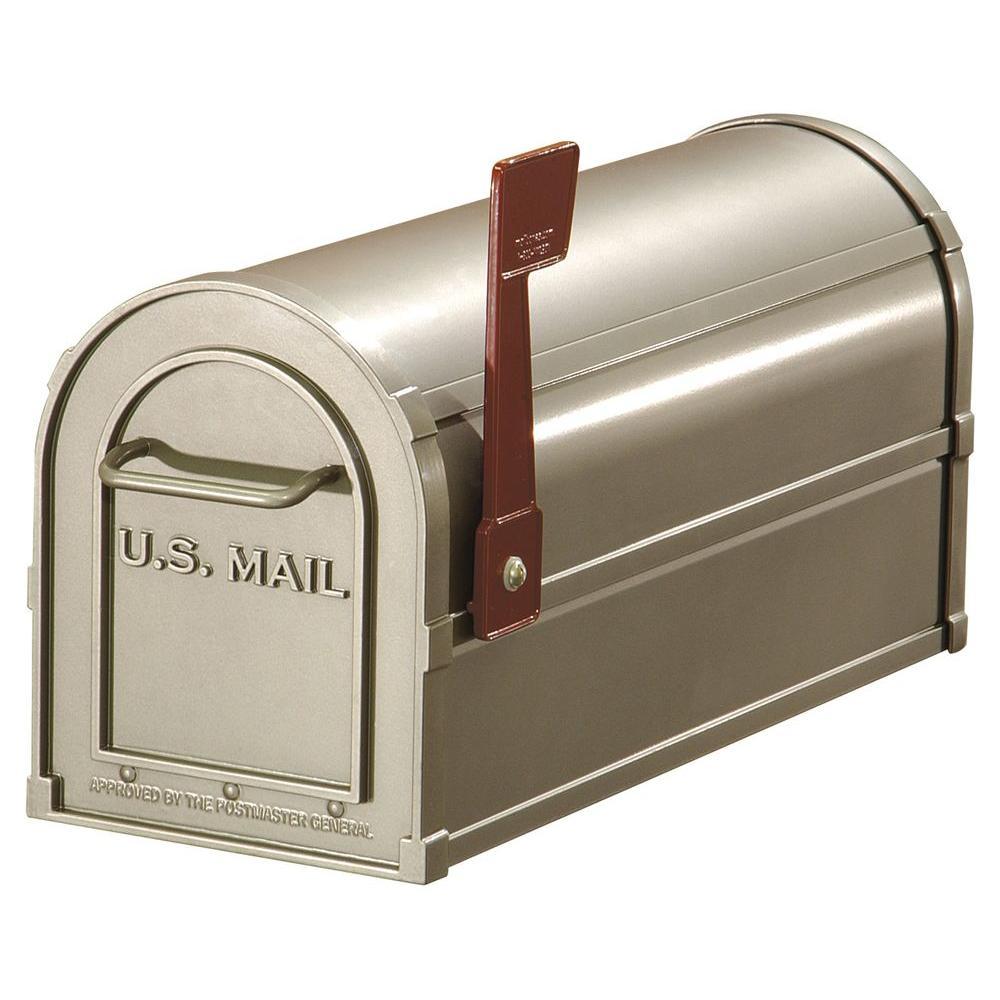 Post Mount Antique Rural Mailbox
