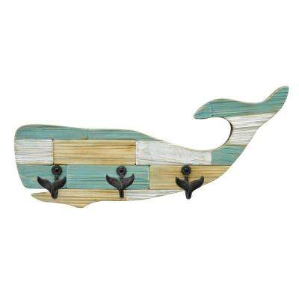 8 in. Wood Whale Hooks