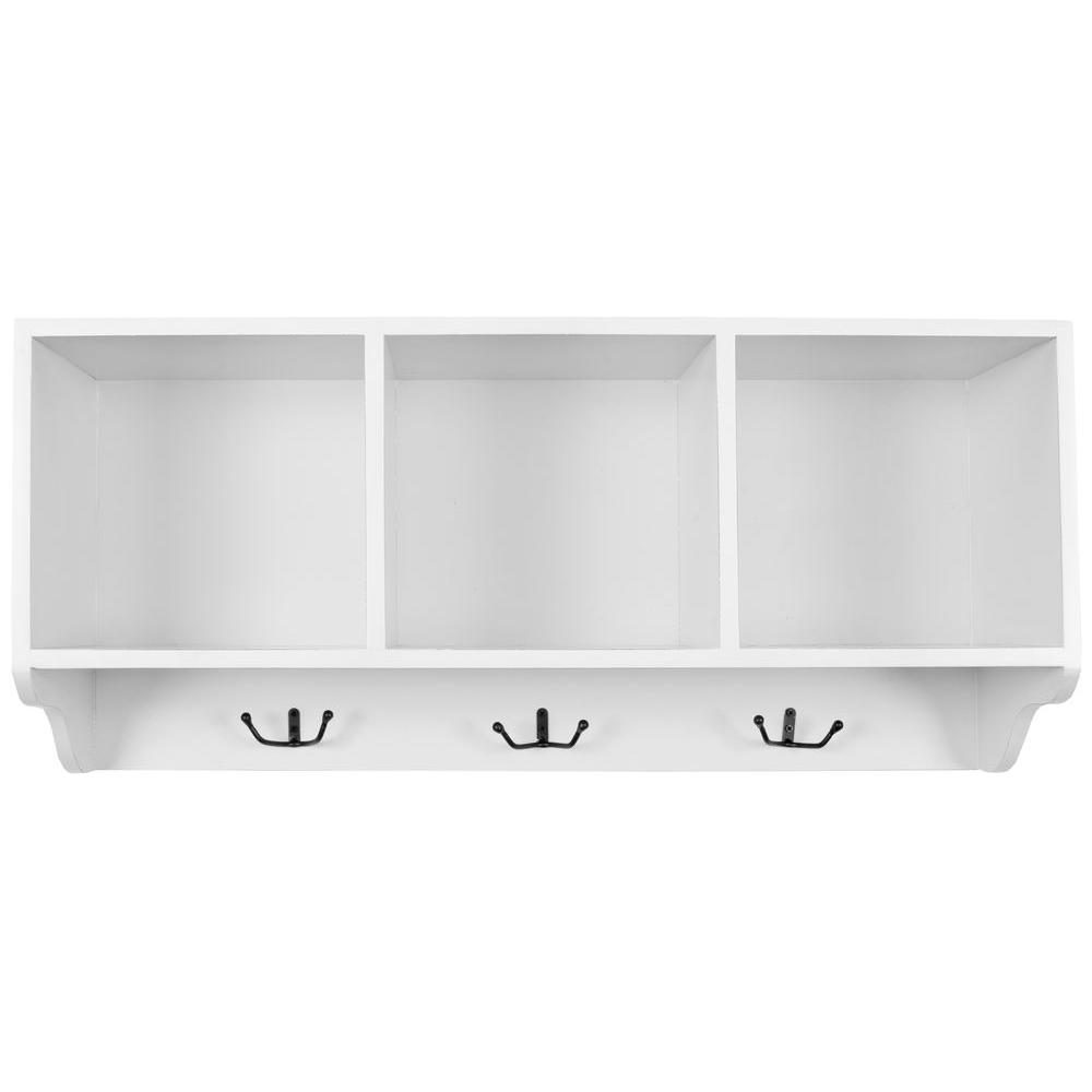 safavieh alice shady white wall mounted coat rack amh6566a the home depot. Black Bedroom Furniture Sets. Home Design Ideas