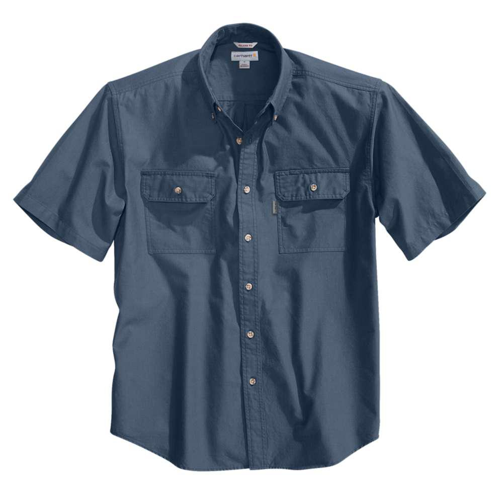 1623e68dd0 Carhartt Men s Tall XX Large Denim Blue Chambray Cotton Short-Sleeve ...