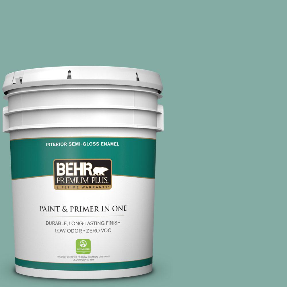 BEHR Premium Plus 5-gal. #M440-4 Summer Dragonfly Semi-Gloss Enamel Interior Paint