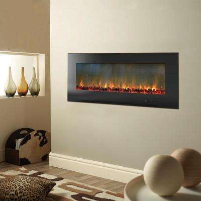 Wall Mounted Electric Fireplaces Electric Fireplaces The Home Depot