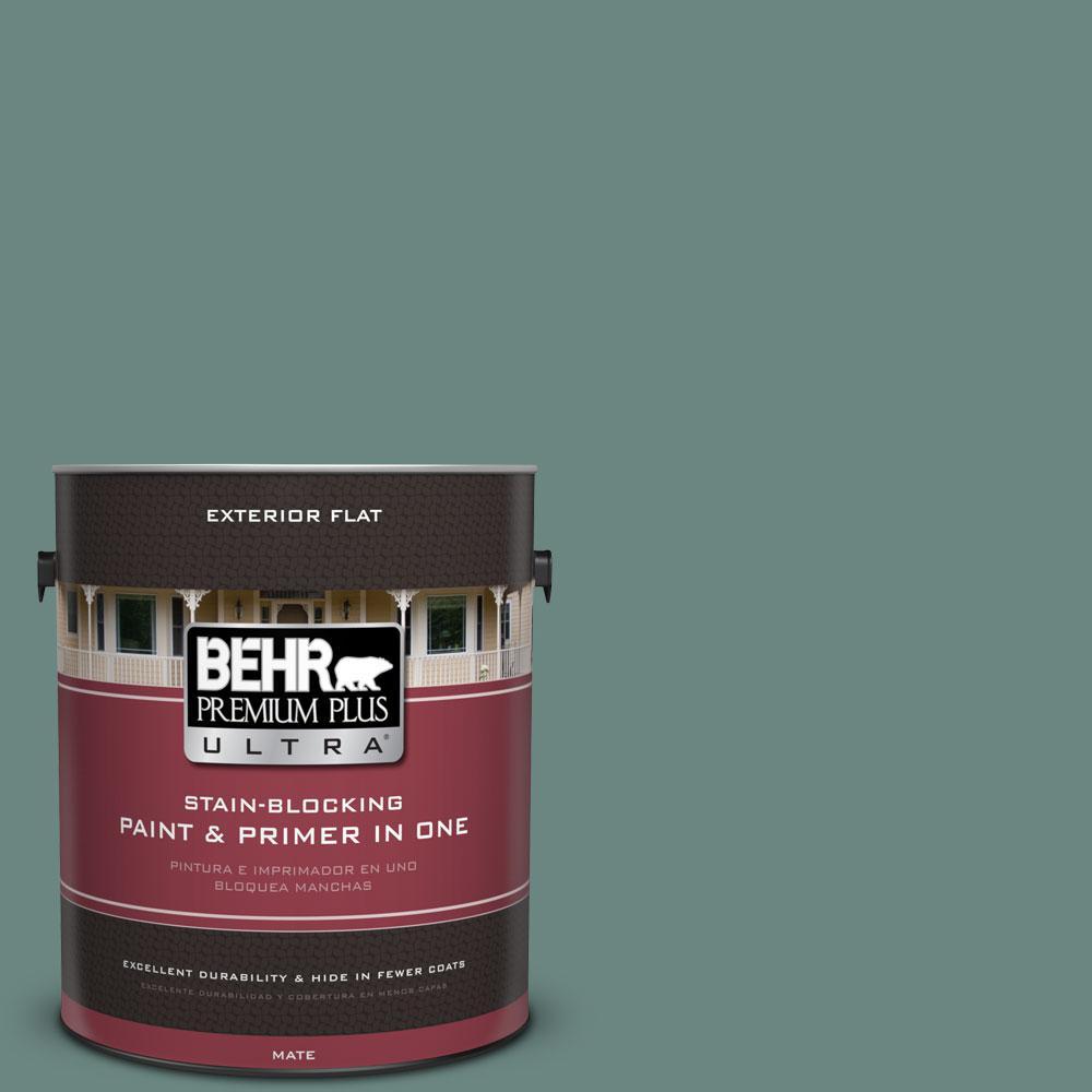 BEHR Premium Plus Ultra 1-gal. #480F-5 Marsh Creek Flat Exterior Paint
