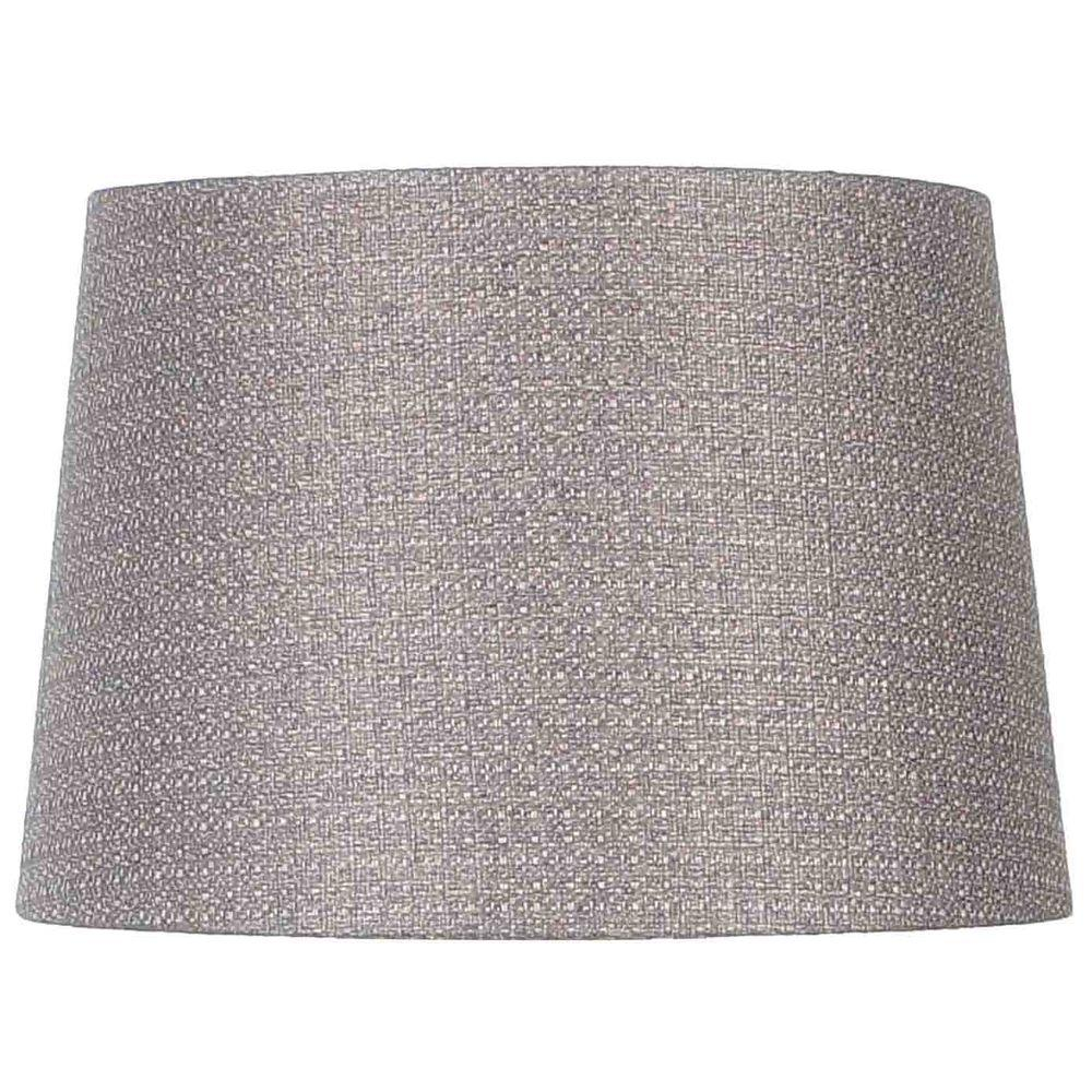 Hampton Bay Mix & Match Gray Round Table Shade