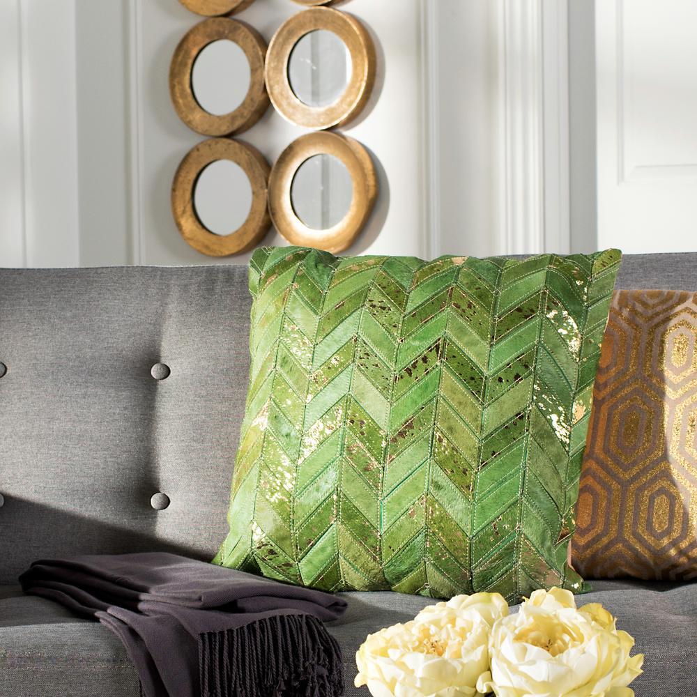 Safavieh Ezla Metallic Cowhide Standard Pillow PLS232B-2020