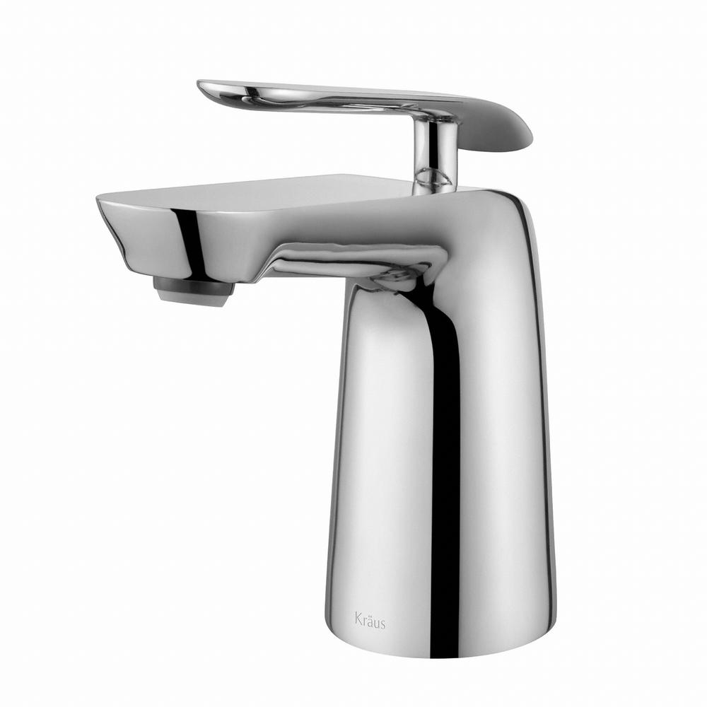 Kraus Seda Single Hole Single Handle Basin Bathroom Faucet In Chrome Fus 1821ch The Home Depot