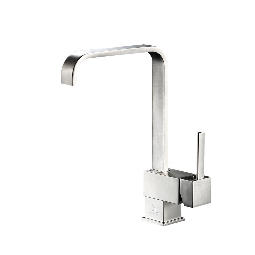 Sabre Single-Handle Standard Kitchen Faucet in Brushed Nickel