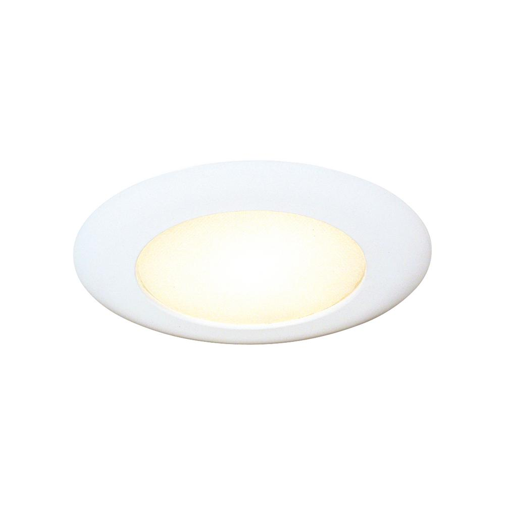 thomas lighting 6 in white albalite shower recessed trim tsh12